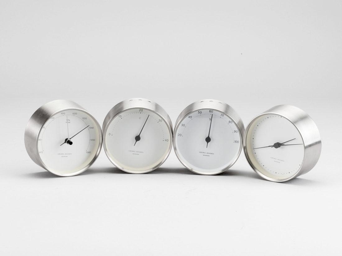 HK BAROMETER, Steel-White