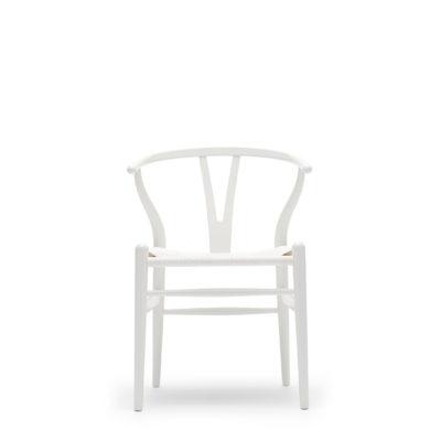 CH24 WISHBONE Chair, Beech – White