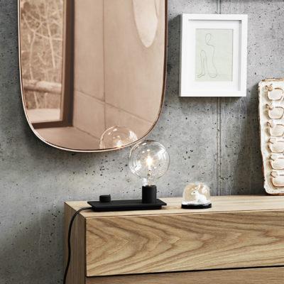 FRAMED Mirror Large, Rose-Rose