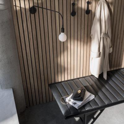 AFTEROOM Coat Hanger Small, Black Brass