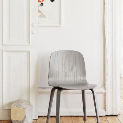 VISU Chair, Wood Base, Dark Green