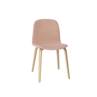 VISU Chair, Wood Base, Textile Seat
