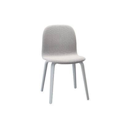 VISU Chair, Wood Base, Textile Seat