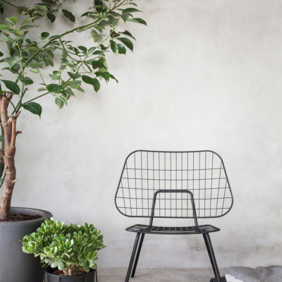 WM STRING Lounge Chair, Black