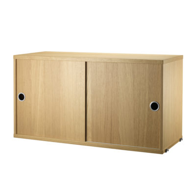 STRING Cabinet with Sliding Doors