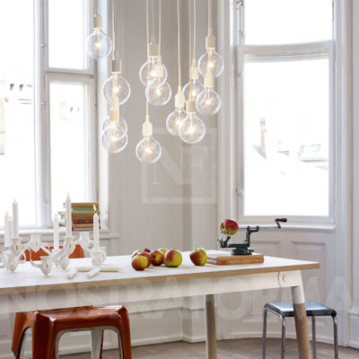 E27 Pendant Lamp, Blue