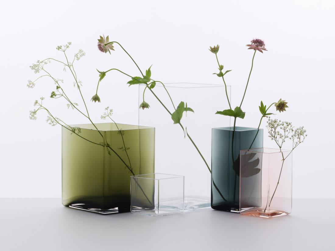 RUUTU Vase 115 x 180, Grey