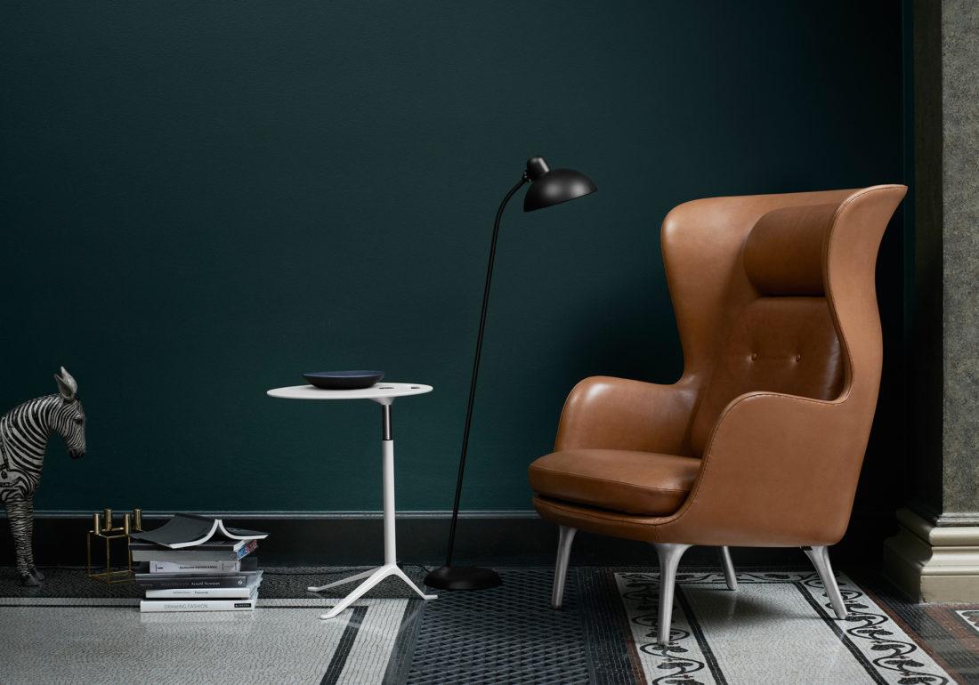 KAISER IDELL Floor Lamp, Matt Black