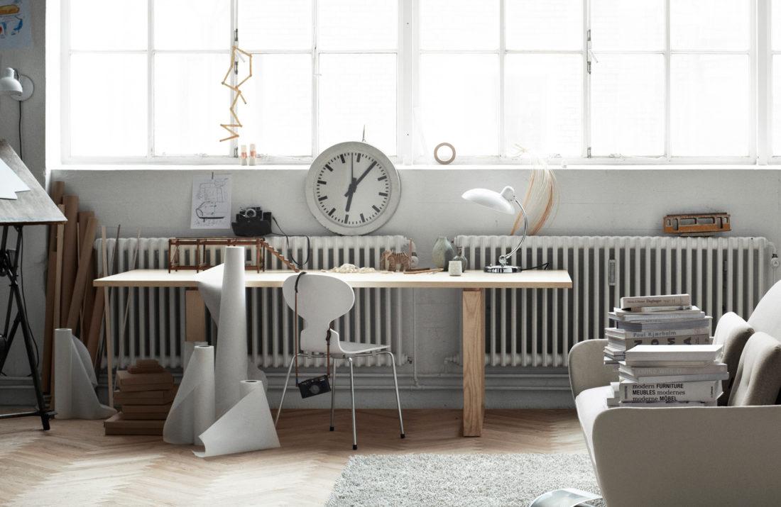 ANT™ 3101 Chair, Coloured Ash, White