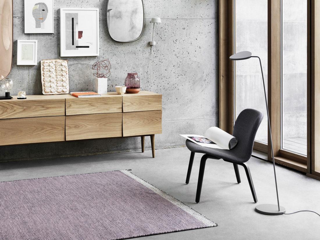 VISU Lounge Chair, Textile Seat