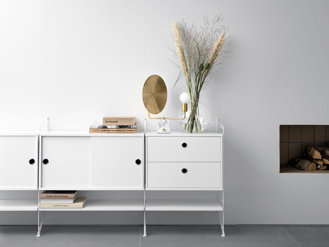 STRING Chest of Two Drawers, w58cm