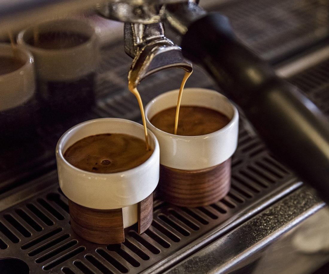 WARM Espresso Cup, Oak