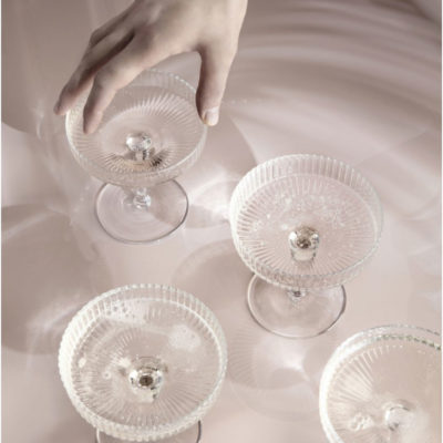 RIPPLE Champagne Glass, set of 2