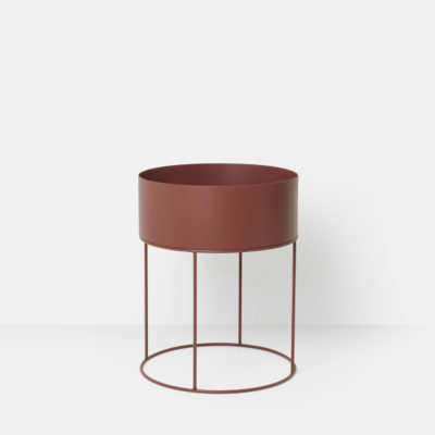 PLANT BOX Round, Red Brown