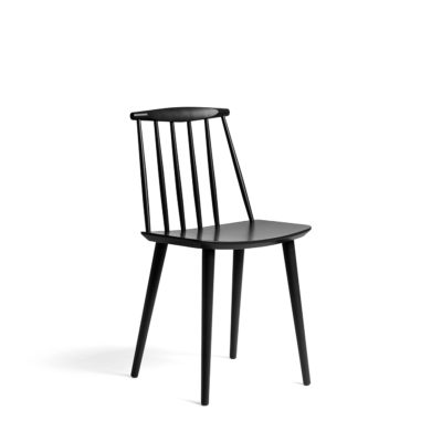 J77 Chair, Black 2 pcs