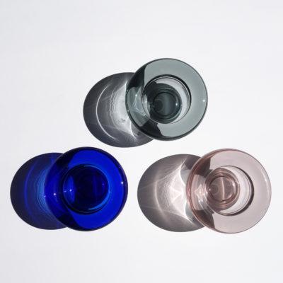 SIRKEL Tealight Holder, Cobalt Blue