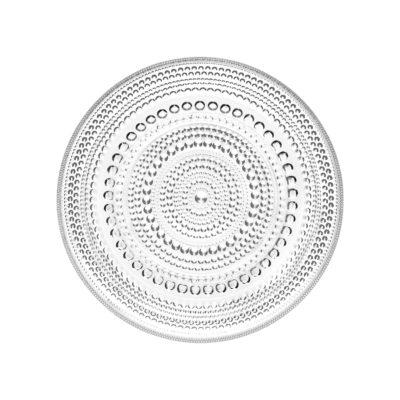 KASTEHELMI Plate, Clear