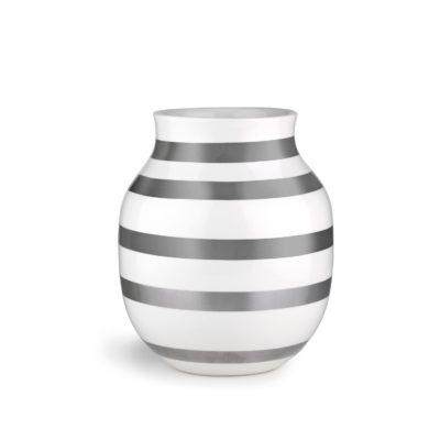 OMAGGIO Vase H200 Silver