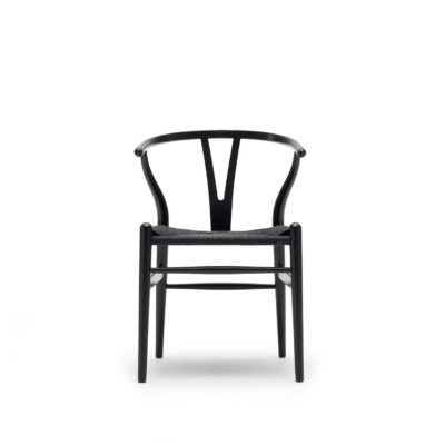 CH24 WISHBONE Chair, Beech – Black