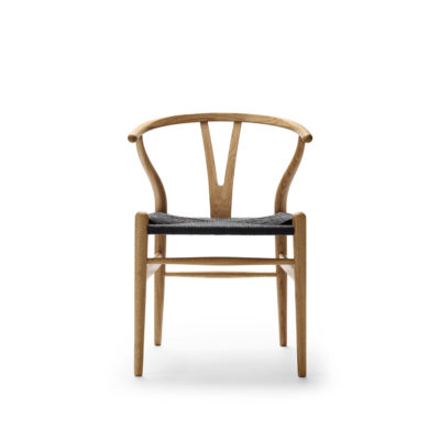 CH24 WISHBONE Chair, Oak Oil – Black