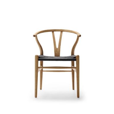 CH24 WISHBONE Chair, Oak Oil – Black