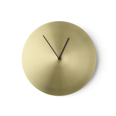 NORM Wall Clock, Brushed Brass