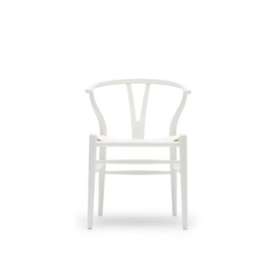 CH24 WISHBONE Chair, Beech – White