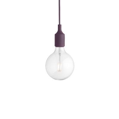 E27 Pendant Lamp, Burgundy