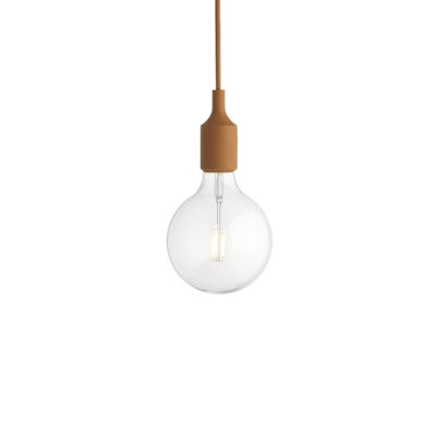 E27 Pendant Lamp, Clay Brown