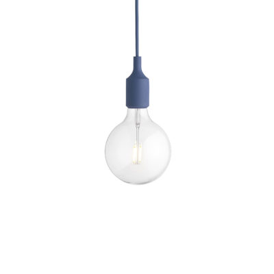 E27 Pendant Lamp, Pale Blue