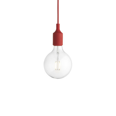 E27 Pendant Lamp, Red