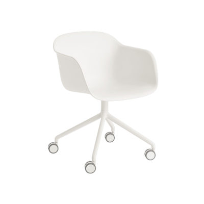 FIBER Armchair, Swivel Base w. Castors
