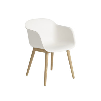 FIBER Armchair, Wood Base