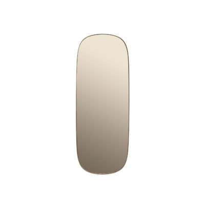 FRAMED Mirror Large, Taupe-Taupe