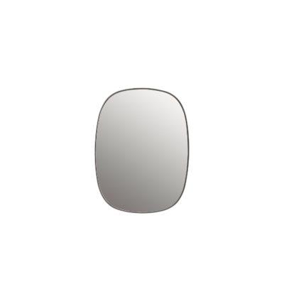 FRAMED Mirror Small, Grey-Clear
