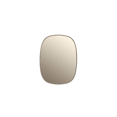 FRAMED Mirror Small, Taupe-Taupe