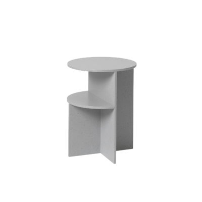HALVES Side Table, Light Grey