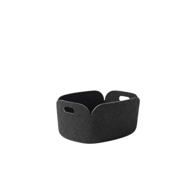 RESTORE Basket, Black Melange