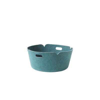 RESTORE Round Basket, Aqua