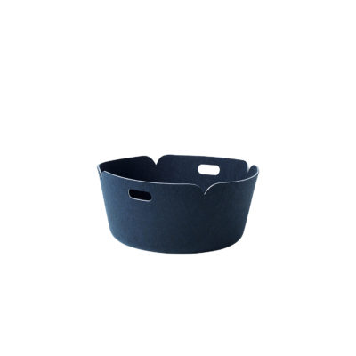 RESTORE Round Basket, Midnight Blue