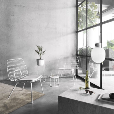 WM STRING Lounge Chair, White