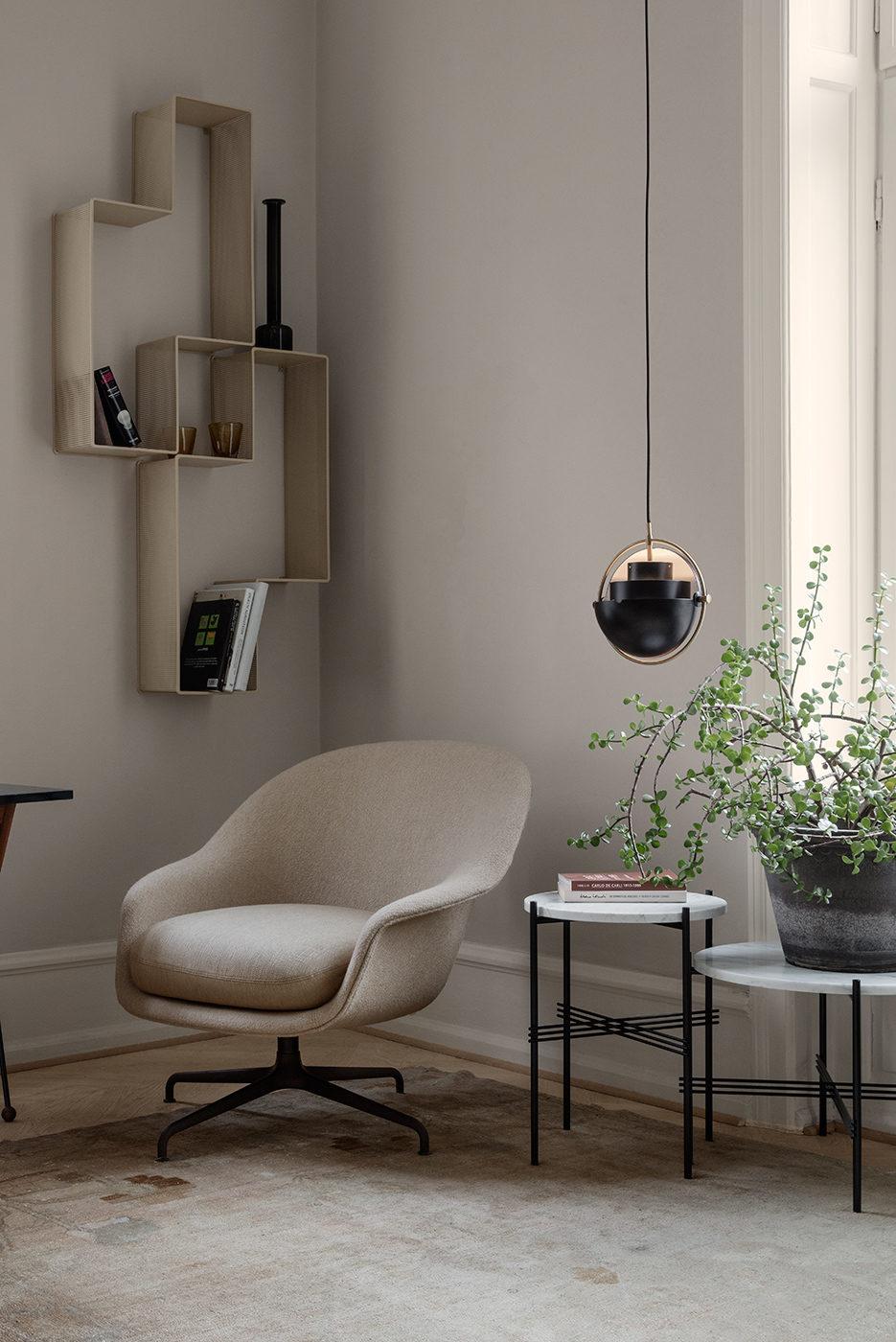 MULTI-LITE Pendant Lamp, Brass – Charcoal Black