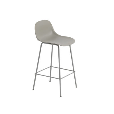 FIBER Counter Stool Backrest & Tube Base, H65cm