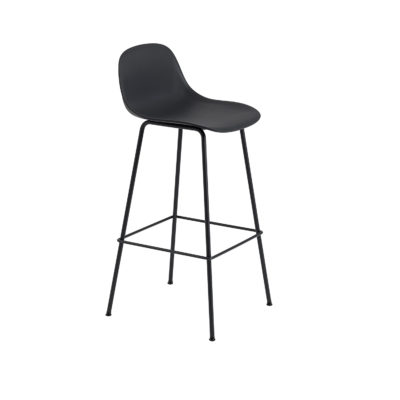 FIBER Counter Stool Backrest & Tube Base, H75cm