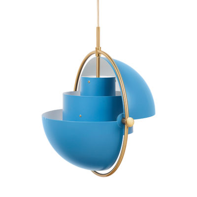 MULTI-LITE Pendant Lamp,  Brass – Blue