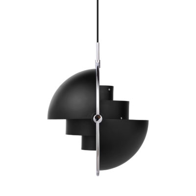 MULTI-LITE Pendant Lamp,  Chrome – Black