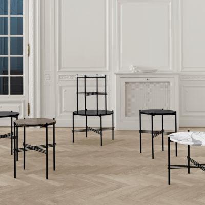 TS Coffee Table, Black Base, dia. 40cm
