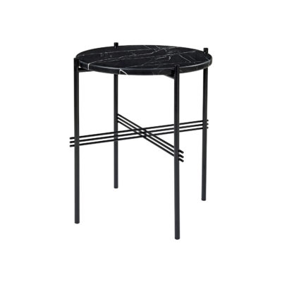 TS Coffee Table, Black Base, dia. 40cm