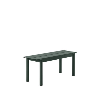 LINEAR Steel Bench, 110cm, Dark Green