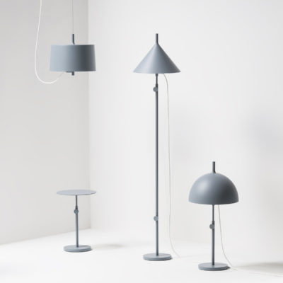 NENDO w132 Floor Lamp Cone, Blue